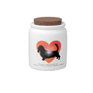 Basset Hound Treat Jar Candy Jar