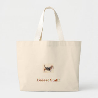 Basset Hound Tri-Colored Canvas Bag