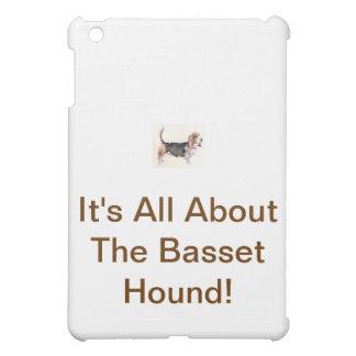 Basset Hound Tri-Colored iPad Mini Covers