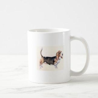 Basset Hound Tri-Colored Mugs