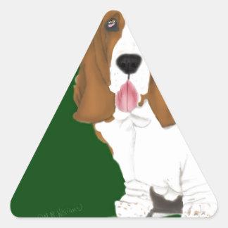 Basset Hound Triangle Sticker