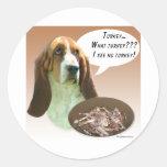Basset Hound Turkey Round Stickers