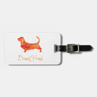 Basset Hound Watercolor Design Bag Tags