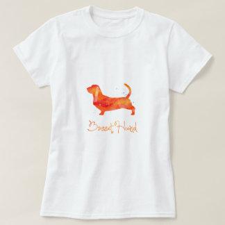 Basset Hound Watercolor Design T Shirt
