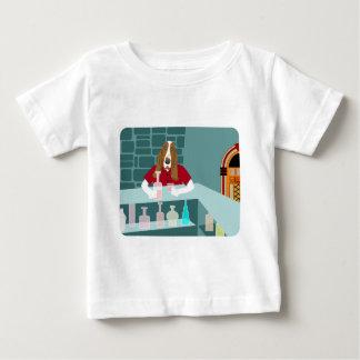 Basset Hound Whiskey Bar Baby T-Shirt