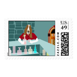 Basset Hound Whiskey Bar Postage