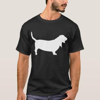 Basset Hound (white) T-Shirt