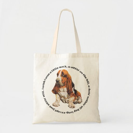 Basset Hound Wishing Ditty Tote Bag