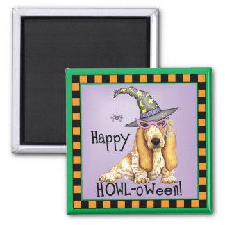 Basset Hound Witch Magnet