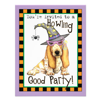 Basset Hound Witch Personalized Announcement