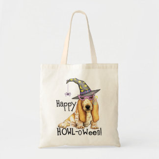Basset Hound Witch Tote Bag