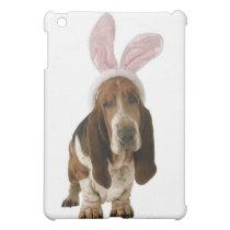 Basset hound with bunny ears iPad mini case