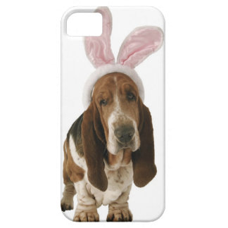 Basset hound with bunny ears iPhone SE/5/5s case