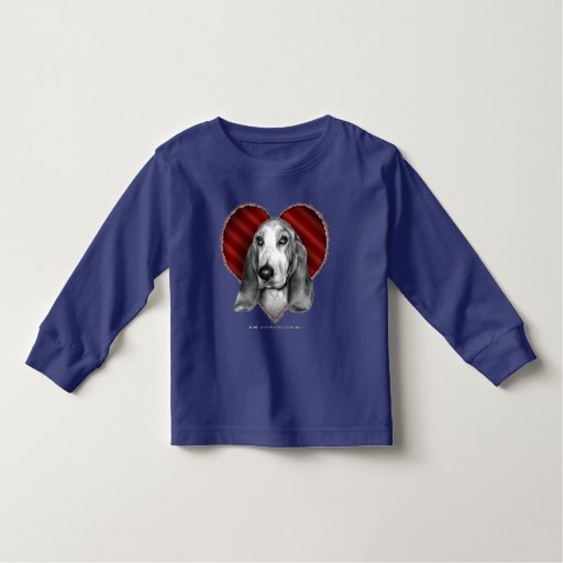 Basset Hound with Heart T Shirts