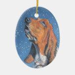 basset hound xmas ornament