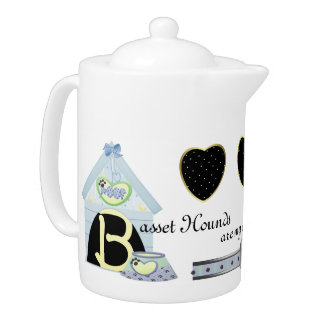 Basset Hounds Are My Cup Of Tea Teapot