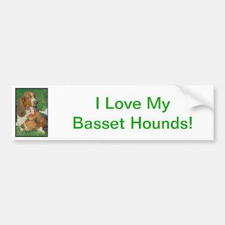 Basset Hounds Bumper Sticker