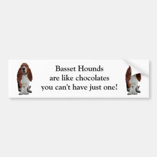 Basset Hounds  custom bumper sticker