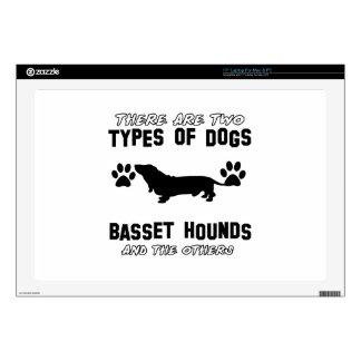 """Basset Hounds designs Decal For 17"""" Laptop"""