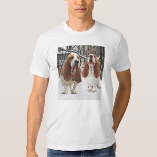Basset Hounds in Snowy Woods Shirt
