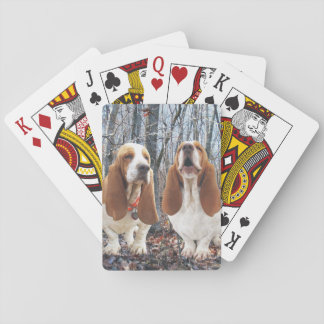 Basset Hounds in the Woods Card Decks