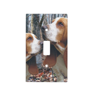 Basset Hounds in the Woods Light Switch Cover