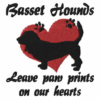 Basset Hounds Leave Paw Prints