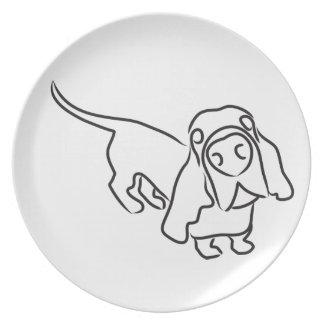 Basset Hounds Plate