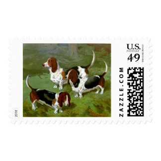 Basset Hounds Stamps