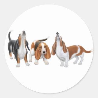 Basset Hounds Sticker