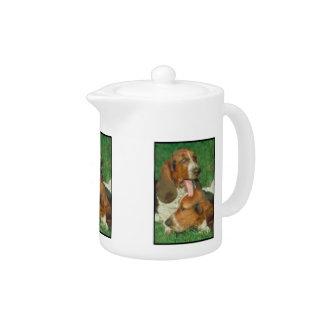 Basset Hounds Teapot