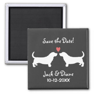 Basset Hounds Wedding Save the Date Magnet
