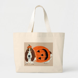 Basset In Pumpkin Suit Bags