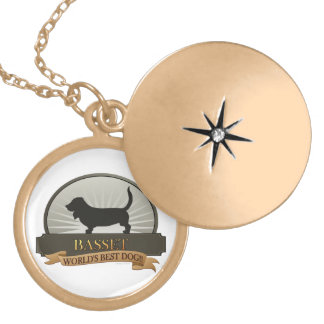 Basset Locket Necklace