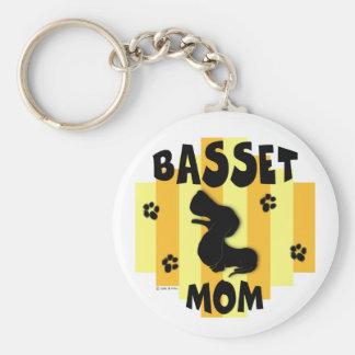 Basset Mom Keychain