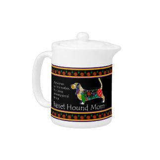 Basset Mom Teapot