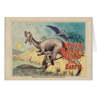 Basset-o-saurus: The origin of bassets Card