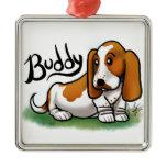 Basset Ornament - Buddy