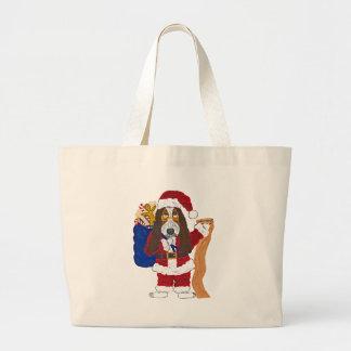 Basset Santa Checking List Of Good Bassets Tote Bags