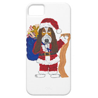 Basset Santa Checking List Of Good Bassets iPhone 5 Cover