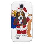 Basset Santa Checking List Of Good Bassets Samsung Galaxy S4 Covers