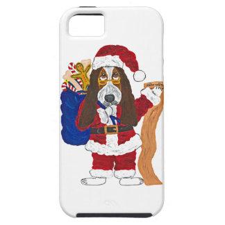 Basset Santa Checking List Of Good Bassets iPhone 5 Cases