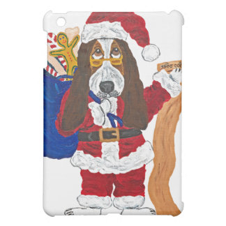 Basset Santa Checking List Of Good Bassets iPad Mini Cover