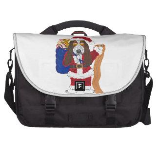 Basset Santa Checking List Of Good Bassets Commuter Bag