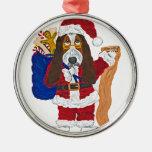 Basset Santa Checking List Of Good Bassets Christmas Tree Ornaments