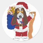 Basset Santa Checking List Of Good Bassets Sticker