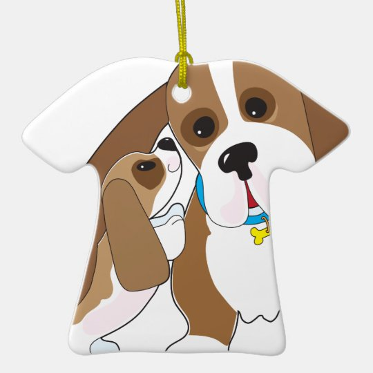 Basset Talk Dad Ceramic Ornament
