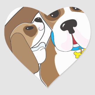 Basset Talk Dad Heart Sticker