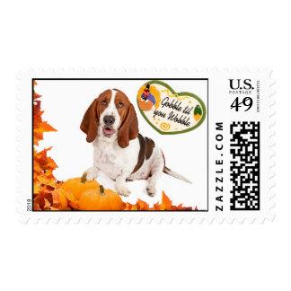 Basset Thanksgiving Postage
