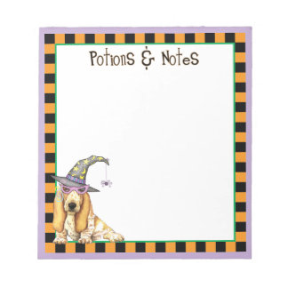 Basset Witch Note Pad